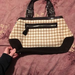 Coach Bags - Houndstooth coach bag